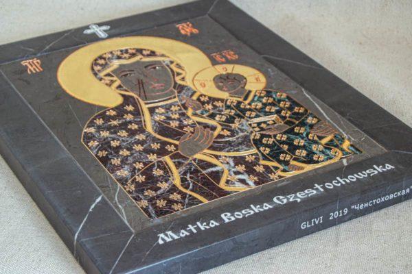Икона Ченстоховской Божией Матери № 1-12,11 из мрамора, каталог икон, изображение, фото 11
