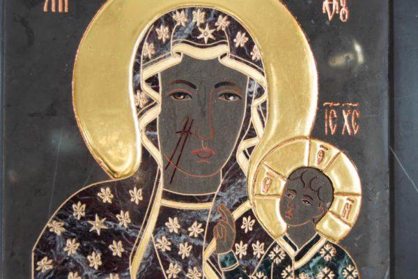 Икона Ченстоховской Божией Матери № 1-12,11 из мрамора, каталог икон, изображение, фото 7