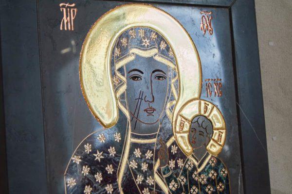 Икона Ченстоховской Божией Матери № 1-12,11 из мрамора, каталог икон, изображение, фото 6