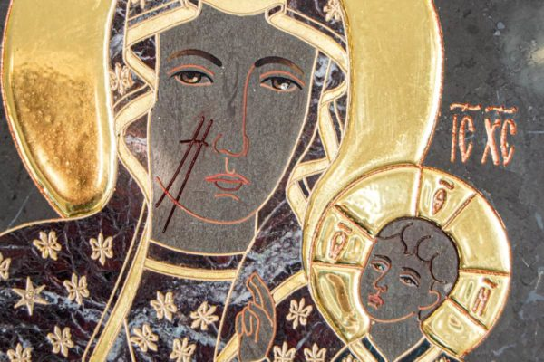 Икона Ченстоховской Божией Матери № 1-12,11 из мрамора, каталог икон, изображение, фото 5