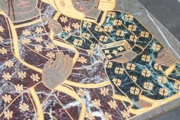 Икона Ченстоховской Божией Матери № 1-12,11 из мрамора, каталог икон, изображение, фото 4
