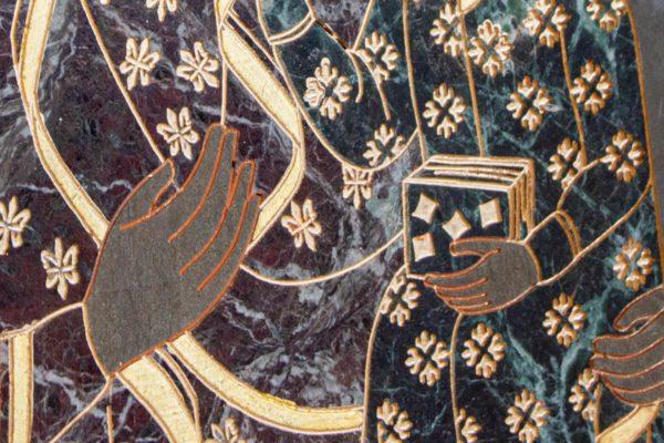 Икона Ченстоховской Божией Матери № 1-12,11 из мрамора, каталог икон, изображение, фото 3