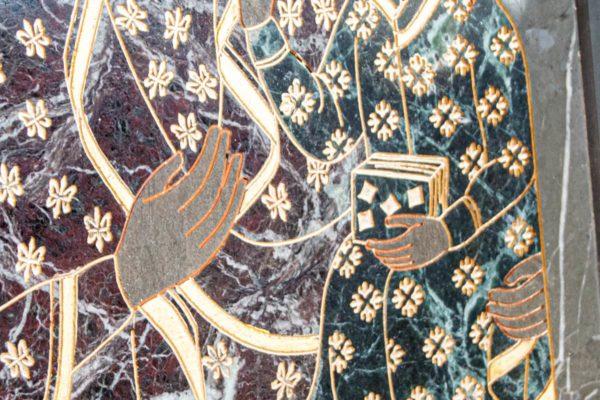 Икона Ченстоховской Божией Матери № 1-12,11 из мрамора, каталог икон, изображение, фото 2