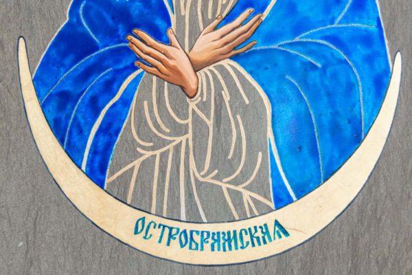 Икона Остробрамской Божией Матери № 08 из мрамора, камня, изображение, фото 4