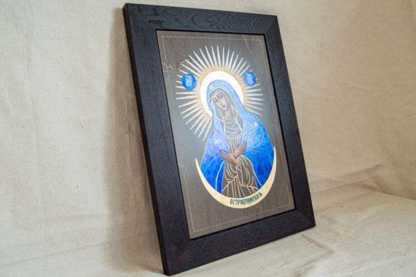 Икона Остробрамской Божией Матери № 08 из мрамора, камня, изображение, фото 1