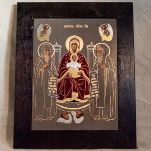 Икона Свенской (Печерской) Божией Матери № 3 из мрамора, камня, изображение, фото 5