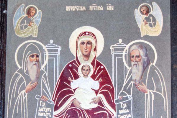 Икона Свенской (Печерской) Божией Матери № 3 из мрамора, камня, изображение, фото 4