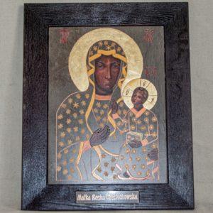 Икона Ченстоховской Божией Матери № 05 из мрамора, каталог икон, изображение, фото 6