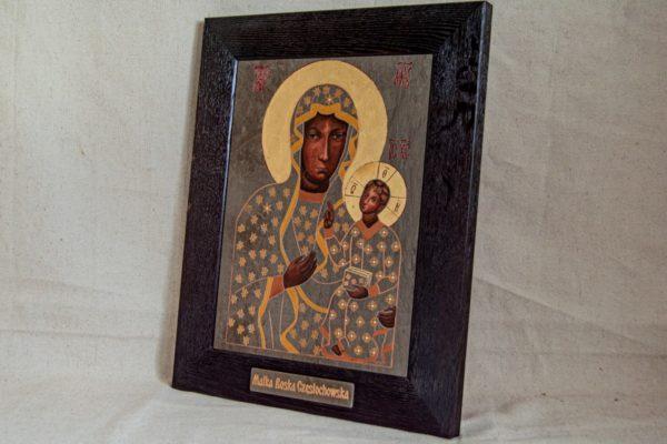 Икона Ченстоховской Божией Матери № 05 из мрамора, каталог икон, изображение, фото 4