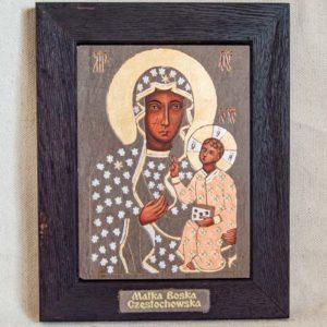 Икона Ченстоховской Божией Матери № 06 из мрамора, каталог икон, изображение, фото 4