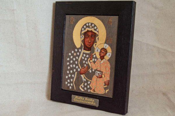 Икона Ченстоховской Божией Матери № 06 из мрамора, каталог икон, изображение, фото 3
