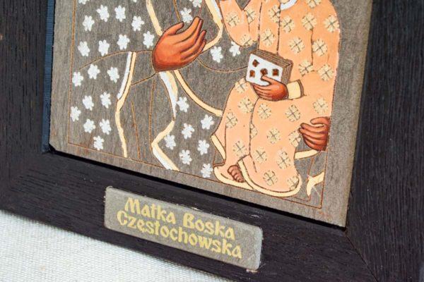 Икона Ченстоховской Божией Матери № 06 из мрамора, каталог икон, изображение, фото 2
