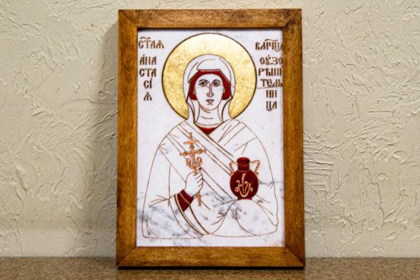 Икона Святой великомученицы Анастасии Узорешительницы № 1 из мрамора, камня, изображение, фото 5