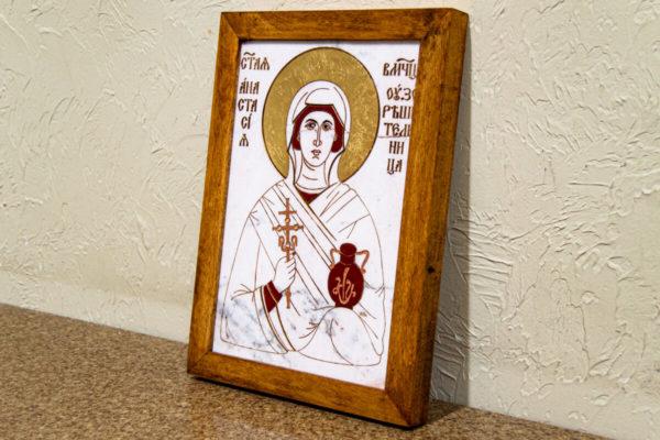 Икона Святой великомученицы Анастасии Узорешительницы № 1 из мрамора, камня, изображение, фото 4