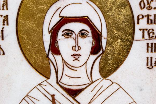 Икона Святой великомученицы Анастасии Узорешительницы № 1 из мрамора, камня, изображение, фото 2