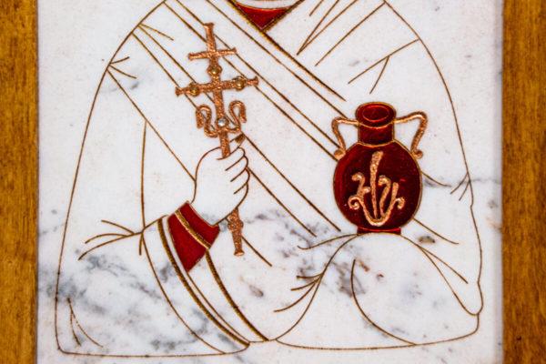 Икона Святой великомученицы Анастасии Узорешительницы № 1 из мрамора, камня, изображение, фото 1
