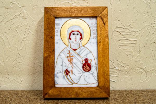 Икона Святой великомученицы Анастасии Узорешительницы № 2 из мрамора, камня, изображение, фото 3