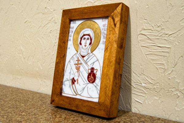 Икона Святой великомученицы Анастасии Узорешительницы № 2 из мрамора, камня, изображение, фото 2