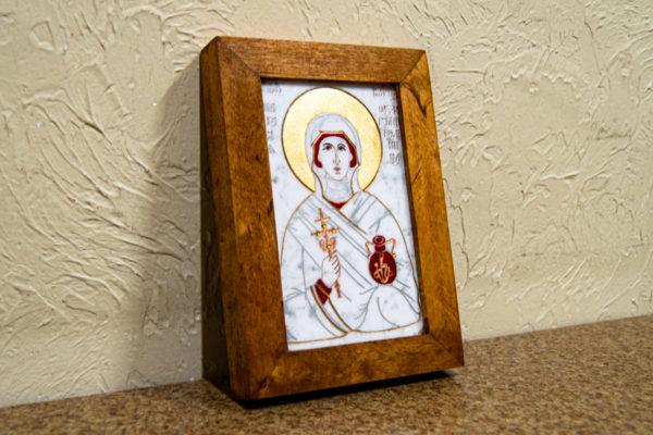 Икона Святой великомученицы Анастасии Узорешительницы № 2 из мрамора, камня, изображение, фото 1
