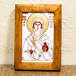 Икона Святой великомученицы Анастасии Узорешительницы № 3 из мрамора, камня, изображение, фото 3