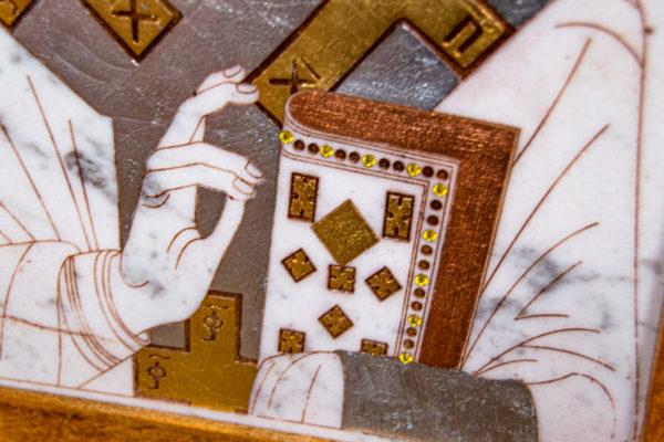 Икона Николая Чудотворца (Угодника) № 22 из мрамора, камня, изображение, фото 2