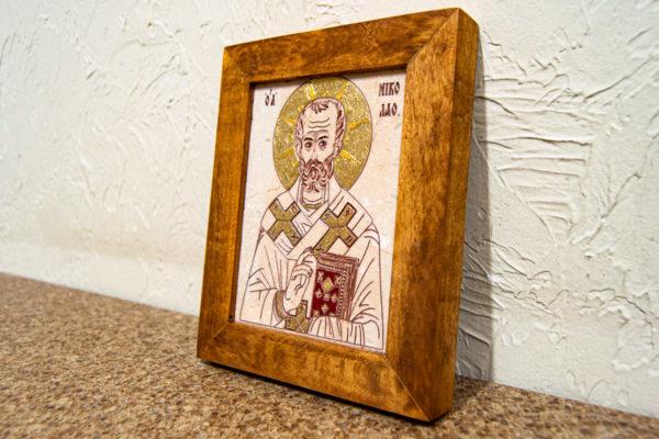 Икона Николая Чудотворца (Угодника) № 24 из мрамора, камня, изображение, фото 2