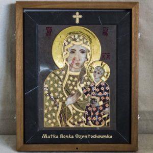 Икона Ченстоховской Божией Матери № 1-12,3 из мрамора, каталог икон, изображение, фото 4