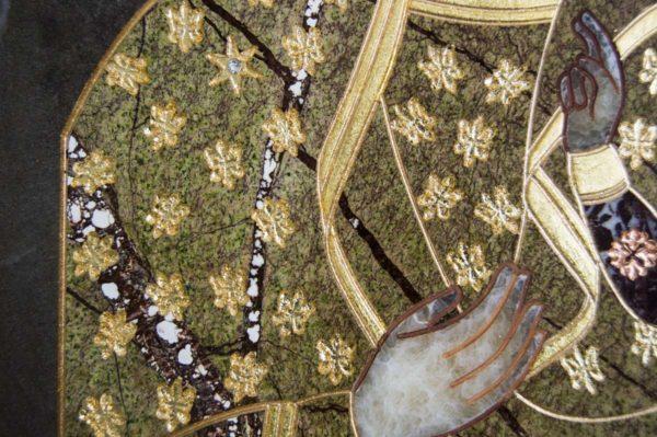 Икона Ченстоховской Божией Матери № 1-12,3 из мрамора, каталог икон, изображение, фото 3