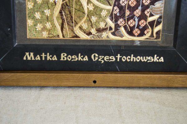 Икона Ченстоховской Божией Матери № 1-12,3 из мрамора, каталог икон, изображение, фото 5