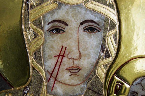 Икона Ченстоховской Божией Матери № 1-12,3 из мрамора, каталог икон, изображение, фото 9