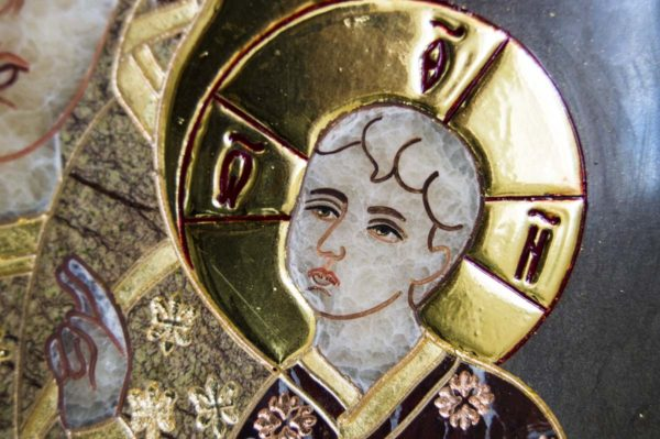 Икона Ченстоховской Божией Матери № 1-12,3 из мрамора, каталог икон, изображение, фото 2