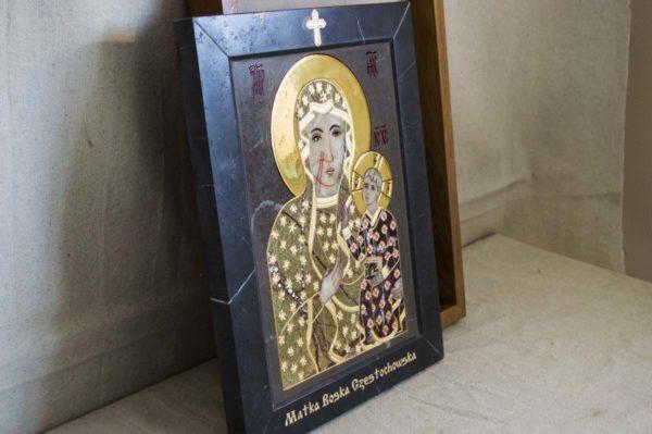 Икона Ченстоховской Божией Матери № 1-12,3 из мрамора, каталог икон, изображение, фото 7