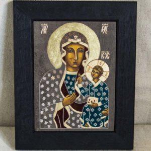 Икона Ченстоховской Божией Матери № 03 из мрамора, каталог икон, изображение, фото 3