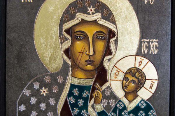 Икона Ченстоховской Божией Матери № 03 из мрамора, каталог икон, изображение, фото 4