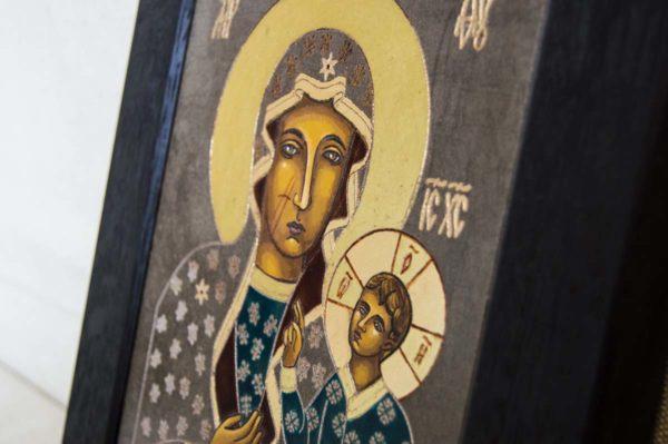 Икона Ченстоховской Божией Матери № 03 из мрамора, каталог икон, изображение, фото 2