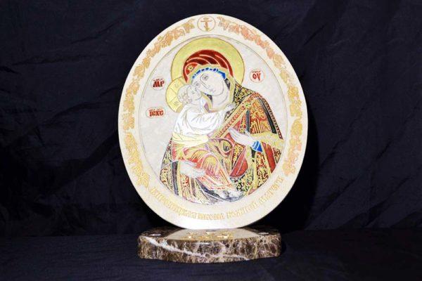 Икона Жировицкой (Жировичской) Божией Матери № 03 из мрамора, камня, изображение, фото 1