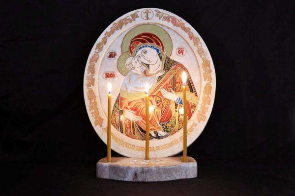 Икона Жировицкой (Жировичской) Божией Матери № 03 из мрамора, камня, изображение, фото 6