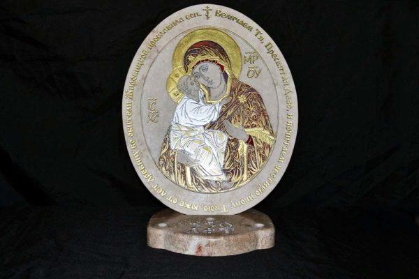 Икона Жировицкой (Жировичской) Божией Матери № 21 из мрамора, камня, изображение, фото 3