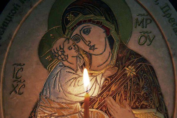 Икона Жировицкой (Жировичской) Божией Матери № 21 из мрамора, камня, изображение, фото 2