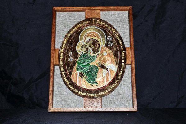 Икона Жировицкой (Жировичской) Божией Матери № 008 из мрамора, камня, изображение, фото 3