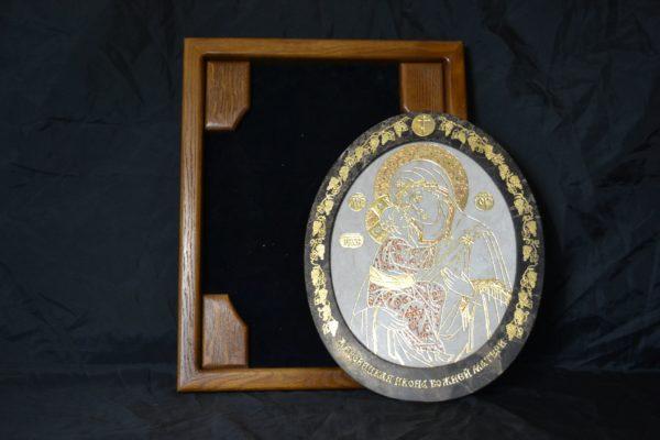 Икона Жировицкой (Жировичской) Божией Матери № 04 из мрамора, камня, изображение, фото 1