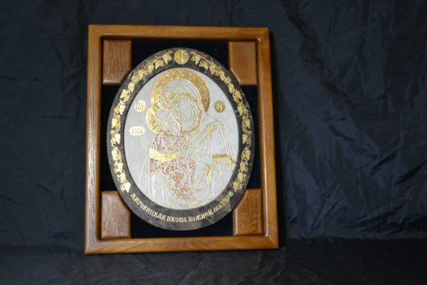 Икона Жировицкой (Жировичской) Божией Матери № 04 из мрамора, камня, изображение, фото 2