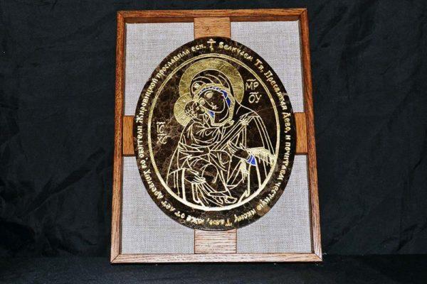 Икона Жировицкой (Жировичской) Божией Матери № 009 из мрамора, камня, изображение, фото 2