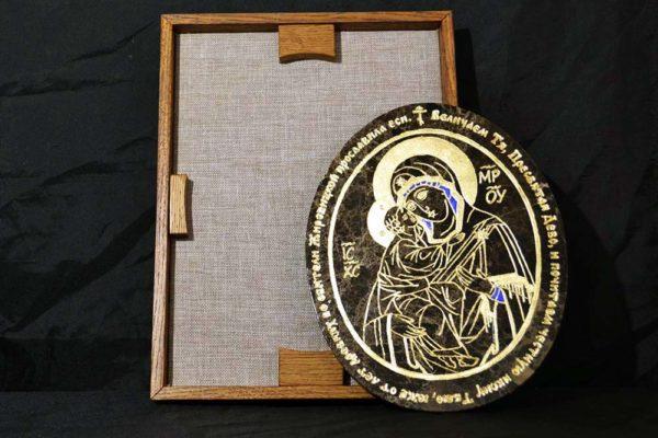 Икона Жировицкой (Жировичской) Божией Матери № 009 из мрамора, камня, изображение, фото 1