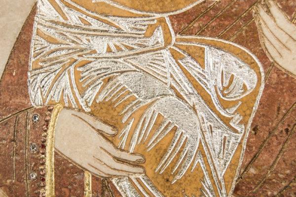 Икона Жировицкой (Жировичской) Божией Матери № п-9 из мрамора, камня, изображение, фото 8