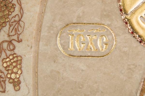 Икона Жировицкой (Жировичской) Божией Матери № п-9 из мрамора, камня, изображение, фото 7
