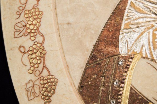 Икона Жировицкой (Жировичской) Божией Матери № п-9 из мрамора, камня, изображение, фото 1