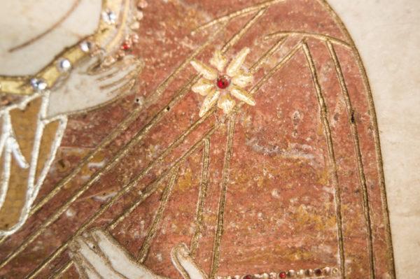 Икона Жировицкой (Жировичской) Божией Матери № п-9 из мрамора, камня, изображение, фото 4