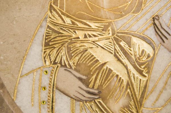 Икона Жировицкой (Жировичской) Божией Матери № п-10 из мрамора, камня, изображение, фото 2