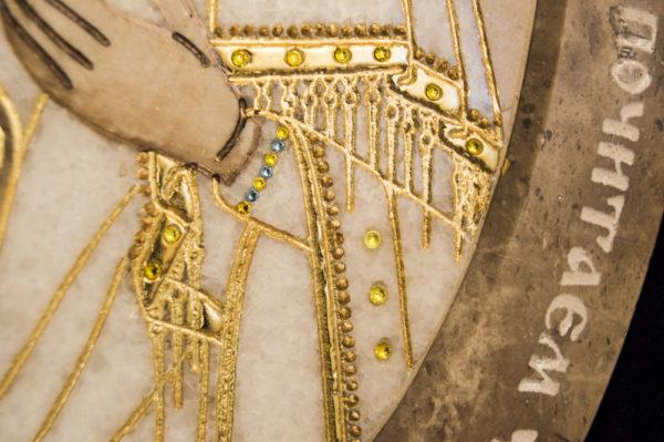 Икона Жировицкой (Жировичской) Божией Матери № п-10 из мрамора, камня, изображение, фото 6